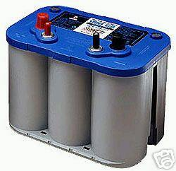 D34M Deep Cycle Marine Battery, NEW by Optima Blue Top