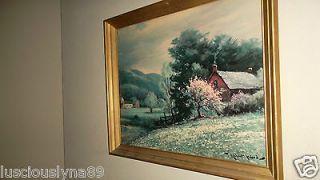 Robert woods print vintage barnyard countryside