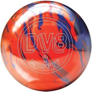 DV8 MISFIT ORANGE/BLUE BOWLING ball 15 lb. BRAND NEW IN BOX