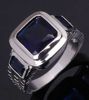 mens blue sapphire ring in Jewelry & Watches