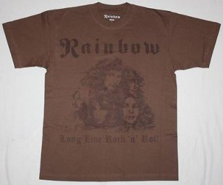 LONG LIVE ROCKNROLL78 RITCHIE BLACKMORE DIO NEW BROWN T SHIRT