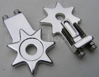 Old school BMX star chain tensioners 3/8 SILVER