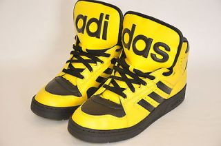 Adidas Originals ObyO Jeremy Scott JS Instinct Hi Mens Yellow Shoes