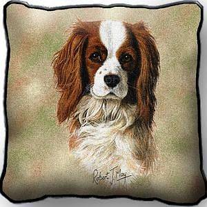 Cavalier King Charles Spaniel Dog by Robert May Jaquard Woven Tapestry