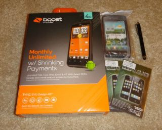 4G   4GB   Black (Boost Mobile) Android Smartphone + Accessories