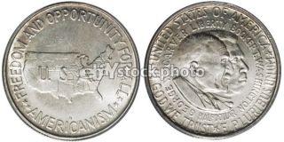 Half Dollar, 1952, Booker T. Washington and George Washington Carver