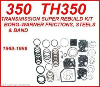 TRANSMISSIONSUPER REBUILD KIT W/STEELS & BORG WARNER FRICTIONS