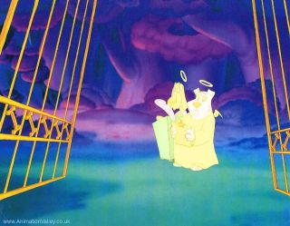 Original Hand Painted All Dogs go to Heaven Production cel Don Bluth