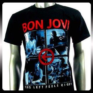 Bon Jovi Punk American Metal Rock Band Men T shirt Sz L Bo14