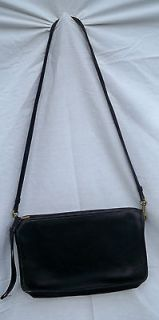 Vintage Bonnie Cashin 70s COACH Black Leather Zip Top Cross Body