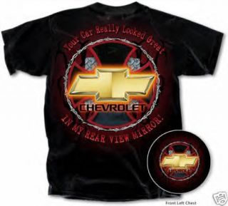 Chevy Bow Tie Chevrolet Race Car Your Car Looked Great Mens Tee Shirt