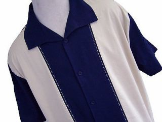 NWT Mens Retro Bowling Shirt Charlie Sheen Rockabilly Camp Vtg 50s