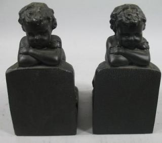 Adorable Baby Boy Bookends Child Book Ends Babys Room Home Decor