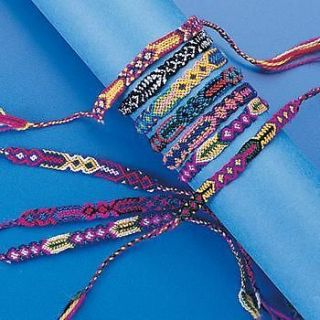 12 Woven FRIENDSHIP BRACELETS Braided Wholesale Lot
