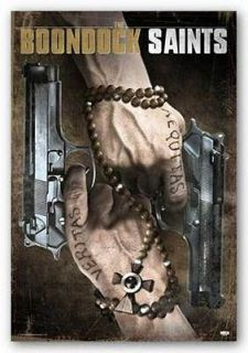 MOVIE POSTER Boondock Saints Rosary Beads and Guns