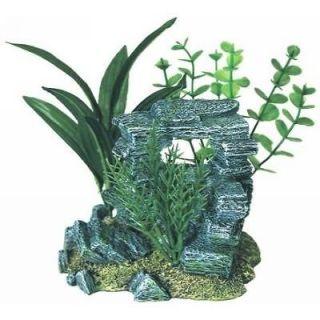 Tropical Floral Rock Arch 1090 ~ aquarium decor ornament fish tank
