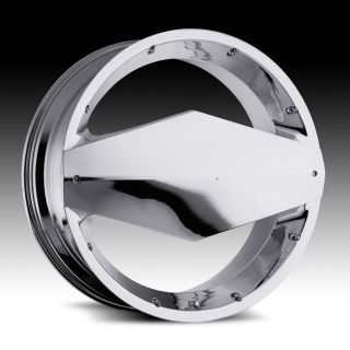 22 inch Vision Morgana Chrome Wheels Rims 5x110 +32