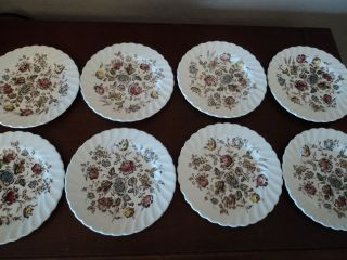 Vintage Johnson Brothers Staffordshire Bouquet Roll & Butter Plates