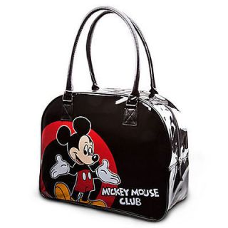 Mickey Mouse Club Tote Bowler Bag BLACK NEW