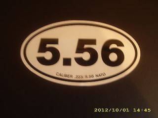 56 Euro Sticker,Very Cool  M4,.223,M240,AR15,AR 15,M 16