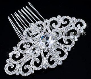 Bridal Wedding Art Deco Vintage Style High Quality Flower Hair Comb