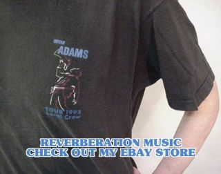 BRYAN ADAMS Tour 1992 Local Crew Black Extra Large T Shirt XL