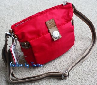 Kipling New Leah Medium Cross Body Bag City Collection Strawberry Red