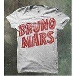 BRUNO MARS Orange / White T SHIRT New ADULT LARGE L