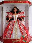 Barbie Happy Holidays 1997 NRFB Red White & Gold Brunette 17832