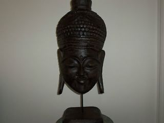 Antique Wooden Hand Carved Buddha God Head