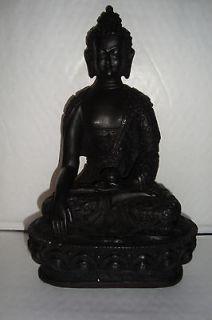 Large Indian Dark Resin,Medicine Buddha. Statue~uk seller~