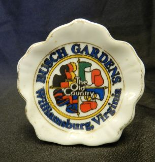 Vintage Busch Gardens Old Country Williamsburg Virginia Candle Holder
