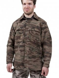 King Of The Mountain woolens Bushman shirt (ALL SIZES) Autumn brown
