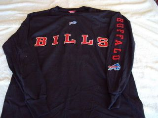 BUFFALO BILLS Logo NFL Team Apparel BLUE Long Sleeve T Shirt NEW Free