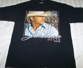 Alan Jackson Drive Tour 2002 Shirt Medium Country Music Concert Vtg