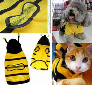 Cute Pet Dog Cat Bumble Bee Dress Up Costume Apparel Doggie Hoodies