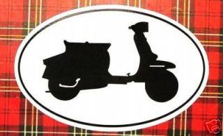 MOTOR SCOOTER auto decal oval bumper sticker LAMBRETTA