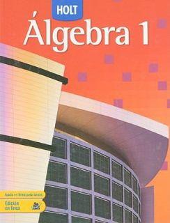Holt Algebra 1 by Edward B. Burger, David J. Chard, Earlene J. Hall