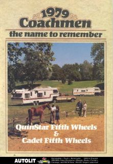 1979 Coachmen Quinstar Cadet Travel Trailer Brochure