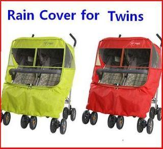 Twin Rain Cover for double pram stroller Maclaren Graco Maclaren Peg