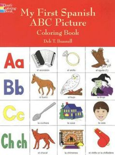 ABC Picture Coloring Book by Deb T. Bunnell 1998, Paperback
