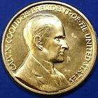 Calvin Coolidge Presidential Medal, 24kt Gold Electroplated