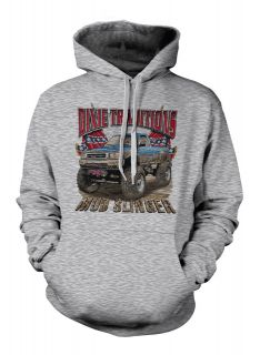 Dixie Traditions Mud Slinger Rebel Flag Chevy Truck Southern Hoodie