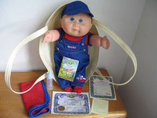 CABBAGE PATCH KIDS TRU BOY BABY 2002 LQQKE HAS BIRTH CERT /NAME TAG