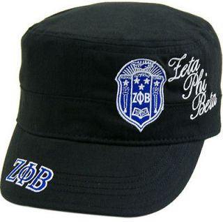 Zeta Phi Beta Shield Script Divine 9 S2 Ladies Captains Cadet Cap