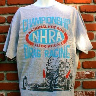 HOT RAT ROD NHRA DRAG RACING T SHIRT FORD CHEVY MOPAR GASSER IHRA SCTA