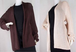 NWT $94 Kate Hill LORD & TAYLOR Cotton Knit PLUS SZ Open Cardigan Long
