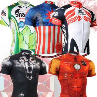 jersey road mountain bike shirt cycling wear cycle clothing bicycle