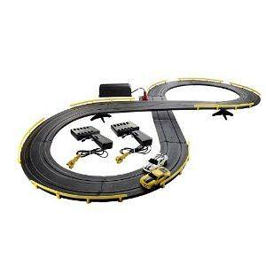 Hot Wheels RC Ford Chevy Slot Car Set Track Race Mustang Camaro