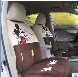 NEW Disney Mickey & Minnie Mouse G019 Car Seat Cover Set 10 pcs